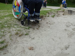 Sandkasten am Spielplatz